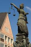 Lady Justice of Frankfurt Stock Photo