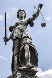 Lady Justice in Frankfurt Germany Royalty Free Stock Photos