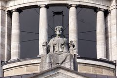 Lady Justice on Her Throne Royalty Free Stock Photo