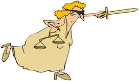 Lady justice Stock Image