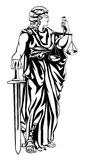 Lady Justice Illustration Stock Images
