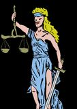 Lady justice Royalty Free Stock Photos