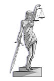 Lady justice logo.Law and order Royalty Free Stock Image