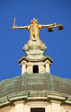 Lady of Justice The Old Bailey. Lady of Justice of the Central Criminal Court fondly known as The Old Bailey, which until 1902 was Newgate prison is the highest Stock Photos