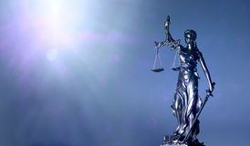 Free Lady Justice Or Justitia - Blindfolded Figurine Holding Balance Scale Stock Photos - 168611143