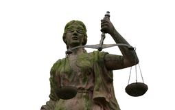 Lady Justice Portrait. Lady Justice - Justitia - is a personification of the moral force that underlies the legal system Royalty Free Stock Photo