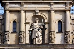 Lady Justice with Scale and Sword Royalty Free Stock Photo