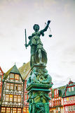Lady Justice sculpture in Frankfurt, Germany Stock Photo