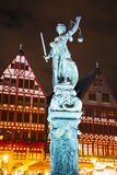 Lady Justice sculpture in Frankfurt, Germany Royalty Free Stock Image