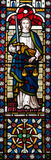 Lady Justice Stained Glass Window Royalty Free Stock Photography