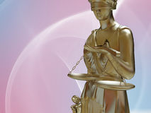 Lady of justice. Standing against blue sky Royalty Free Stock Photo