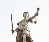 Lady Justice statue in Frankfurt am Main city, Germany royalty free stock photography