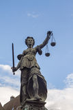 Lady Justice. Statue of Lady Justice in Frankfurt am Main, Germany Stock Photography