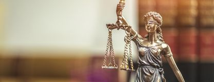 Lady Justice Statue. The Statue of Justice - lady justice or Iustitia / Justitia the Roman goddess of Justice Stock Photography