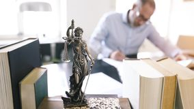 Lady Justice Statue. The Statue of Justice - lady justice or Iustitia / Justitia the Roman goddess of Justice stock video