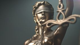 Lady Justice Statue. The Statue of Justice - lady justice or Iustitia / Justitia the Roman goddess of Justice stock footage