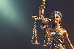 Lady Justice Statue. The Statue of Justice - lady justice or Iustitia / Justitia the Roman goddess of Justice stock image