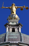 Lady Justice Statue ontop of the Old Bailey in London Royalty Free Stock Photo