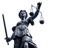 Lady Justice Stature n Germany, Frankfurt. Photo Stock Photos