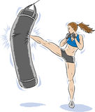 Kickboxergirl Royalty Free Stock Photo