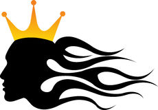 Lady king crown Stock Image