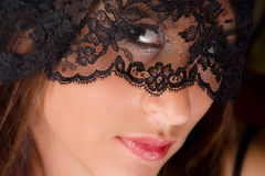 Lady in lace Royalty Free Stock Images