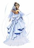 Lady Lavender stock illustration