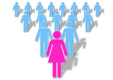 Lady Leadership Royalty Free Stock Photo