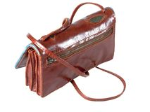 Lady leather handbag Stock Images
