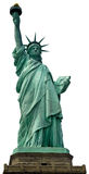 Lady Liberty. Closeup of the Statue of Liberty on Liberty Island, isolated, white background Royalty Free Stock Image