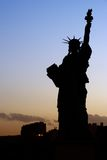 Lady Liberty. Silhouette of the Parisian Statue of Liberty - Paris, France stock images