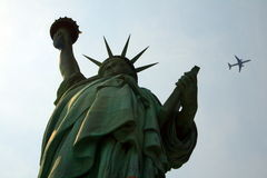 Lady Liberty & Airplane Royalty Free Stock Image