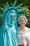 Lady Liberty and Betsy Ross impressionists. stock image
