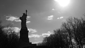 Lady Liberty. Sunny day on liberty island stock images