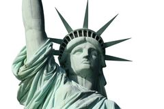 Lady Liberty On White Stock Images