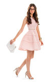 Lady in light pink dress. Royalty Free Stock Photography