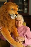 The Lady and the Lion Stock Images