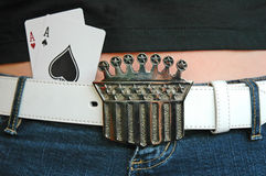 Lady Luck and her Aces Royalty Free Stock Photography