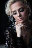 Lady with luxury jewellery Royalty Free Stock Photo
