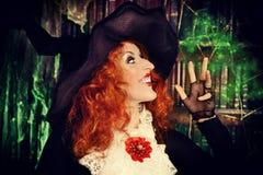 Lady magic Royalty Free Stock Images