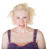 Lady Making a Face Royalty Free Stock Photography