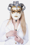 Lady with mask Stock Photography
