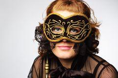 Lady mask Royalty Free Stock Photo