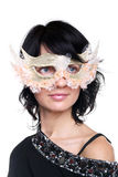 Lady in mask Stock Image