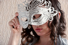 Lady and mask Stock Image