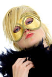 Lady with mask Royalty Free Stock Photo