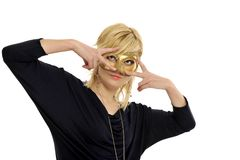Lady with mask Royalty Free Stock Images