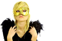 Lady with mask Royalty Free Stock Photos