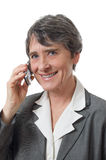 Lady med mobiltelefon arkivbilder