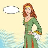 Lady in medieval dress. Medieval legend. Medieval woman. Beloved woman of Robin Hood. White lady of forrests Stock Photos